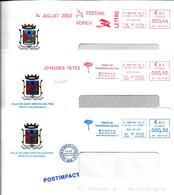 Mairie 44250 Saint-Brevin-les-Pins 3 Enveloppes EMA Rouge Et Bleu - Airplanes