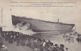 Loire-Atlantique - St-Nazaire - Lancement Du Plus Grand Paquebot Transatlantique Français Sur Chantiers Et Ateliers - Saint Nazaire