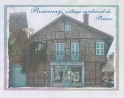 ROMENAY 71 SAONE ET LOIRE - VILLAGE MEDIEVAL DE BRESSE ( COIFFEUR ) PAP ENTIER POSTAL VOYAGE EN 2010, VOIR LES SCANNERS - Holidays & Tourism