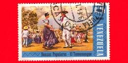 VENEZUELA - Usato - 1966  - Danze Popolari - El Tamunangue - 0.40 - P. Aerea - Venezuela