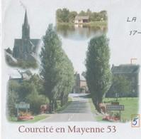 COURCITE 53 MAYENNE - PLAN D EAU, EGLISE, UNE RUE - PAP ENTIER POSTAL VOYAGE EN 2008, VOIR LES SCANNERS - Holidays & Tourism