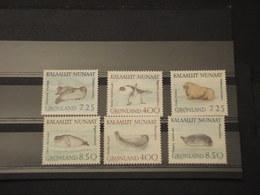 GROENLANDIA - 1991 FOCHE 6 VALORI  - NUOVI(++) - Groenlandia