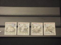 GROENLANDIA - 1999 WWF UCCELLI 4 VALORI  - NUOVI(++) - Groenlandia