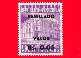 VENEZUELA - Usato - 1965 - Posta Centrale, Caracas - Main Post Office - Resellado - 0.05 Su 90 - P. Aerea - Venezuela
