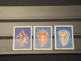 POLYNESIA - P.A. 1977 CONCHIGLIE 3 VALORI  - NUOVI(++) - Posta Aerea