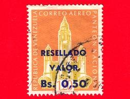 VENEZUELA - Usato - 1965 - Panteon Nazionale, Caracas - Resellado 0.50 1.20 - Posta Aerea - Venezuela