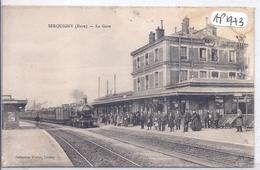 SERQUIGNY- LA GARE ET LE TRAIN - Serquigny