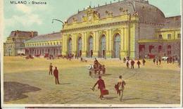6-MILANO-STAZIONE -CARD ILLUSTRATA - Stazioni Senza Treni