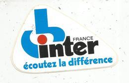 Autocollant , Radio ,  FRANCE INTER ,écoutez La Différence - Autocollants