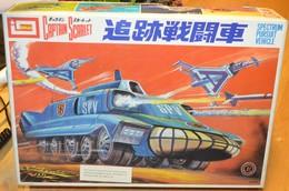 Rare Maquette Captain Scarlet Spectrum Poursuit Véhicule Complet Dans Boite Japonaise - Toy Memorabilia