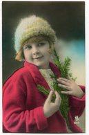 CPA - Carte Postale - Fantaisie - Enfant - Bonnet - Sapin - (C8629) - Portraits