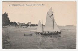 44 Le Pouliguen N°307 Chaloupe De Pêche Voilier Sortant Du Port Collection Pillorget St Nazaire 1909 - Le Pouliguen