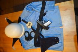 Rare Panoplie Ancienne Pour Enfant Policier Motard Années 60-70 - Toy Memorabilia