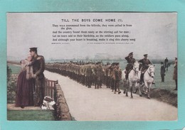 Bamforth Old Small Post Card Of Till The Boys Come Home,(1) ,V89. - United Kingdom