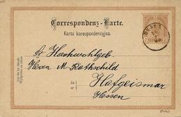 1893 -Karta Koresp.  E P  2 Kr Empire Autriche  Oblit.   SKALA ( Poln. ) - ....-1919 Provisional Government