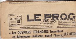 Le Progrès De La Côte D'Or. 15 Janvier 1943. Dijon. - 1939-45