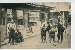 AK FPK Sw Um 1917 Türkenviertel In Prilep ,belebt, Strassenszene - Mazedonien