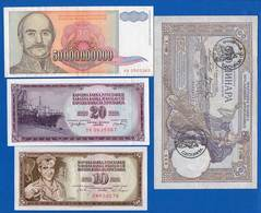 Yougoslavie  8  Billets - Joegoslavië