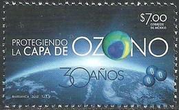 2017 MÉXICO Protegiendo La Capa De Ozono MNH Protecting The Ozone Layer, SCIENCE, HEALTH - México