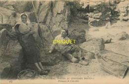 Région Bretagne, Pêcheurs De Crevettes, C M C B 287, Affranchie 1908 - Bretagne