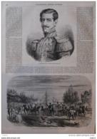 Le Général Don Ramon Castilla, Président Du Pérou - Page Original 1855 - Prints & Engravings