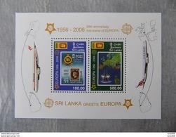 Bloc Feuillet Neuf Sri Lanka 2006 : Cinquantenaire Du Timbre Europa - Europa-CEPT