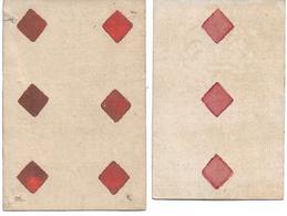 Lot De 2 Cartes à Jouer 18e, 3 Et 6 De Carreau - Cartes à Jouer Classiques