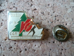 PIN'S    FOULEE DE LA CGT  SYNDICAT  QUEYRAS  ABRIES - Pin