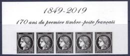 5305 Cérès 0.88 - Haut Du Bloc De 5 Timbres - 170 Ans Du Premier Timbre Poste Français (2019) Neuf** - Unused Stamps