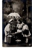 Fröhliche Ostern - Kinder Mit Regenschirm Und Ostereier Ca 1910 - Ostern