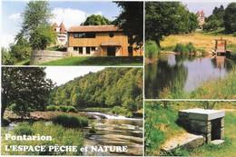 PONTARION -la Maison Maurice Lecante, Le Château, Le Thaurion, La Fontaine -l'espace Pêche Et Nature - Multivues - Pontarion