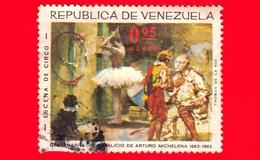 VENEZUELA - Usato - 1966 (1963) - 100 Anni Della Nascita Di Arturo Michelena - Scena Di Circo -  0.95 Posta Aerea - Venezuela