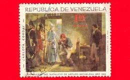 VENEZUELA - Usato - 1966 (1963) - 100 Anni Della Nascita Di Arturo Michelena (1863-1898) - Charlotte Corday - 1.05 Aerea - Venezuela
