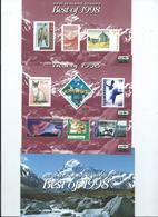 New Zealand The Best Of 1998 Face Value $16.20  3 X Miniature Sheets - Blocks & Sheetlets