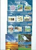 New Zealand The Best Of 1997 Face Value $15.40  3 X Miniature Sheets - Blocks & Sheetlets