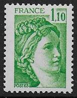 Sabine N° 2058a ** - Sans Phosphore  - Cote : 15 € - 1977-81 Sabine Of Gandon