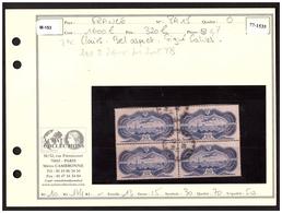 P A N° 15 En Bloc De 4 Obl. Signé Calves - 1927-1959 Used
