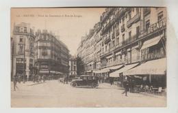CPSM NANTES (Loire Atlantique) - Place Du Commerce Et Rue De Gorges - Nantes