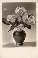 Grußkarte Mit Rosenstrauß 1942 - Feiern & Feste