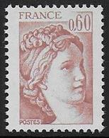 Sabine N° 2119a ** - Sans Phosphore. Signé - Cote : 50 € - 1977-81 Sabine Of Gandon