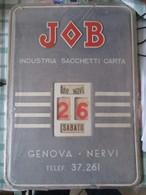Calendario Perpetuo In Cartone Genova Nervi - Targhe Di Cartone