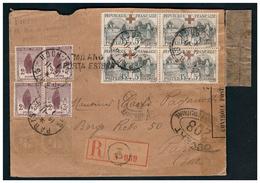 Bloc De 4 Du N° 156 Sur Lettre Rec . De PARIS Pour PARME Du 16.11.18. - France