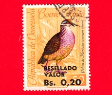 VENEZUELA - Usato - 1965 - Fauna - Uccelli - Quaglia - Zentrygon Linearis - RESELLADO  0.20 Su 2.50 - Venezuela