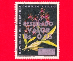 VENEZUELA - Usato - 1965 - Fiori - Orchidee - Schomburgkia Undalata Lindl - Resellado 0.25 Su 1.50 - P. Aerea - Venezuela