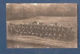 Carte Photo Duitse Fotokaart 1914 1918  Duits Regiment Met Overste Te Paard - Guerre 1914-18