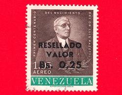 VENEZUELA - Usato - 1965 - Dr. Luis Razetti - Resellado 0.25 Su 1.05 - P. Aerea - Venezuela