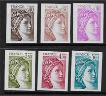 Sabine -  Série 2118 à 2123 ** - Non Dentelés - Cote : 110 € - 1977-81 Sabine Of Gandon