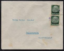 BRULANGE - BRÜLINGEN - MOSELLE OCCUPEE / 4-7-1941 CACHET LINEAIRE SUR LETTRE POUR WALLERSBERG (ref 4560e) - Elsass-Lothringen