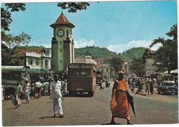 Kandy: 5x AUTOBUS/COACH, PEUGEOT 403, JEEP - Street Scene - (Sri Lanka) - Toerisme