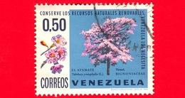 VENEZUELA - Usato - 1969 - Risorse Naturali - Alberi - Tabebuia Pentaphylla - 0.50 - Venezuela